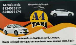 A4 Taxi -Travels, Acting Drivers, Auto