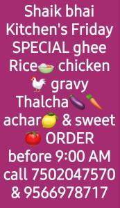 Sheikh Bhai's Kitchen- Friday Offer !