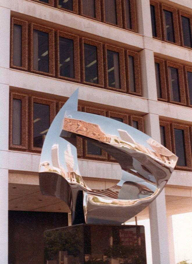 Amity- a statue in the Civic Center Plaza, circa late Seventies.