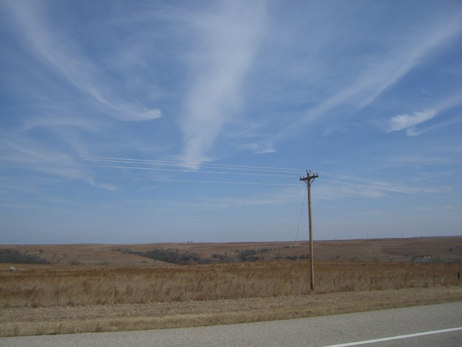 Miles of open ranch land in Oklahoma