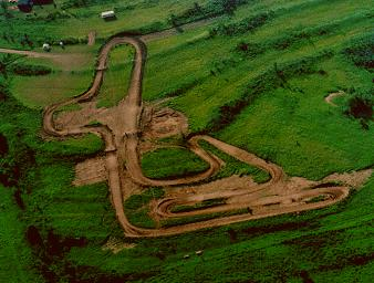 aerial view of Beeline Motocross Park