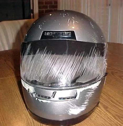 Full Face Helmet with Road Rash