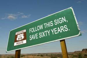 Follow this sign, save sixty years.