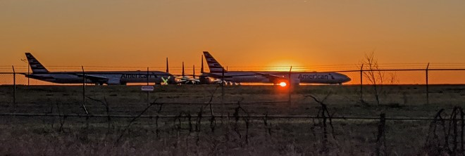 Grounded airliners at TUL