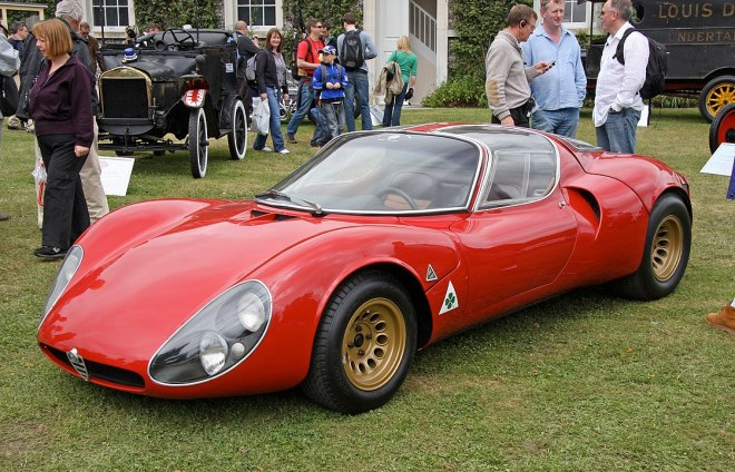 By Brian Snelson from Hockley, Essex, England - 1967 Alfa Romeo Tipo 33 Stradale Prototipo, CC BY 2.0, https://commons.wikimedia.org/w/index.php?curid=4399048