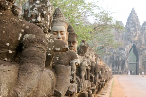 One of the many visual delights of Angkor Wat.