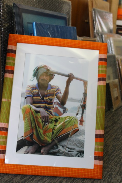 A special lungi frame for my photo of a man in a lungi.