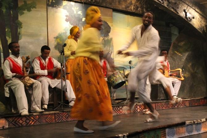 Traditional dancing.