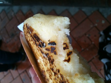 Arepa, straight up with melted butter.