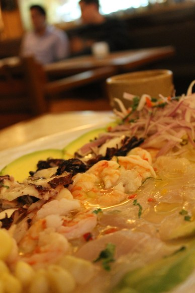 The modern version of ceviche at Brujas.