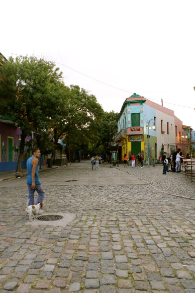 Famous street in the La Boca harbor area of Buenos Aires.