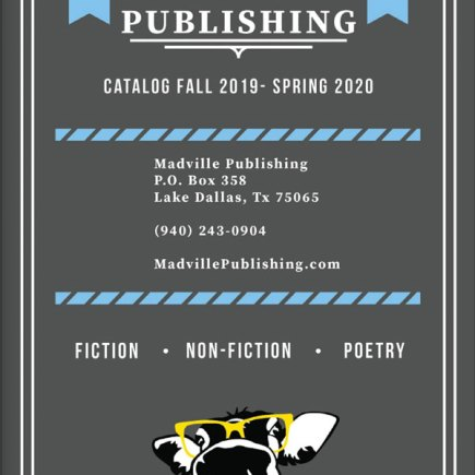 Madville Publishing's 2019-2020 Catalog cover