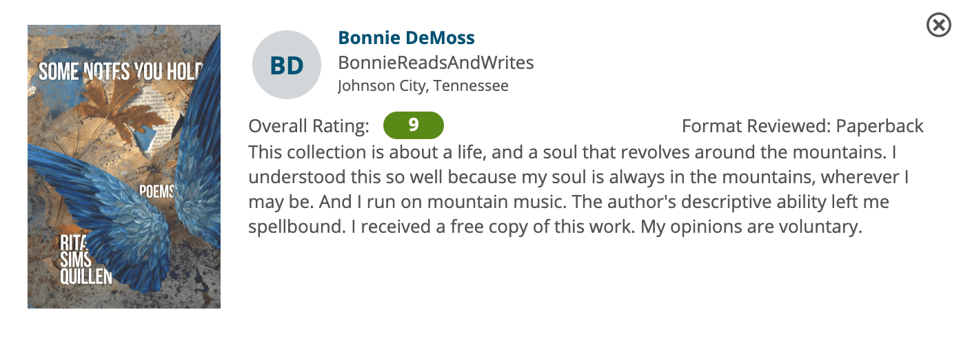 Review by Bonnie DeMoss