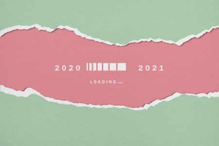 "a ""loading"" graphic showing 2020 on the left and 2021 on the right"
