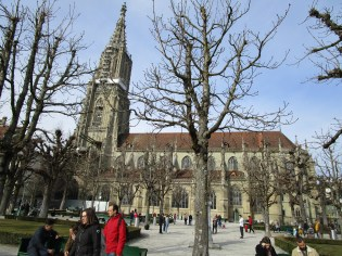 A view of the cathedral from Münsterplattform.