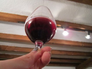 Trying to see the different colors in the Pinot Noir...