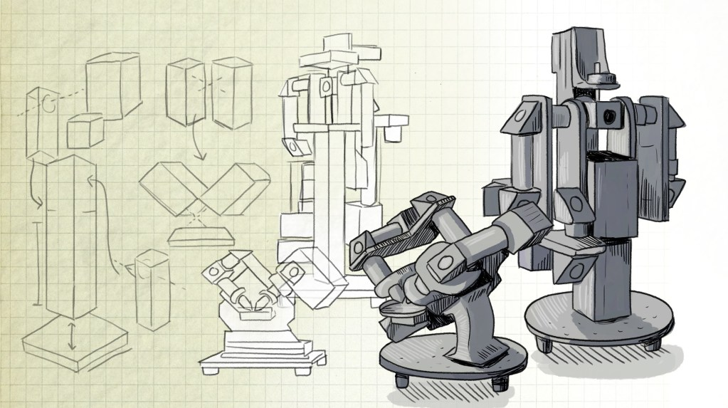 A depiction of the history of creating the Flamingo microscope, see more at https://involv3d.org/
