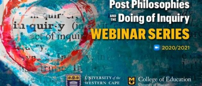 Flyer for post philosophies and the doing of inquiry seminar series