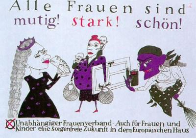 Plakat des Unabhängigen Frauenverbandes der DDR, 1990. © Stiftung Haus der Geschichte der Bundesrepublik Deutschland