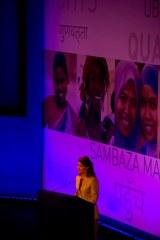 Melinda Gates spricht beim Summit