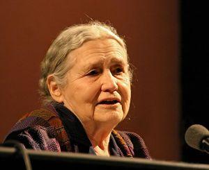Doris Lessing, British writer, at lit.cologne, Cologne literature festival 2006, Germany