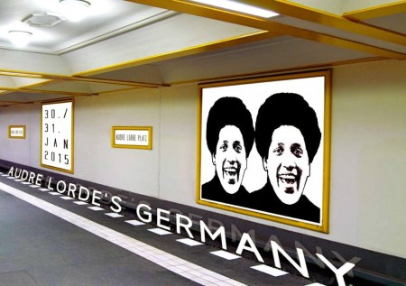 Audre Lorde's Germany - Audre Lorde Icon by Kim Everett. Poster design Pawel Zoneff.