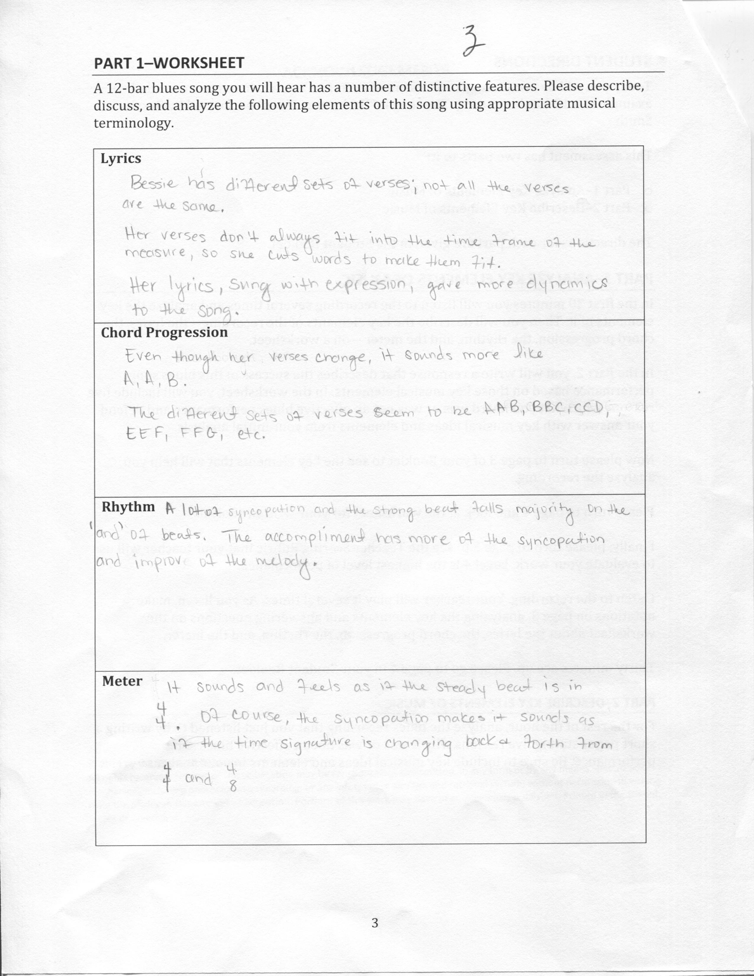 Blues Performance Evaluation Maeia