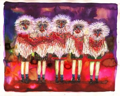 fillettes-encre-et-aquarelle-sur-papier-24x30-cm-2015