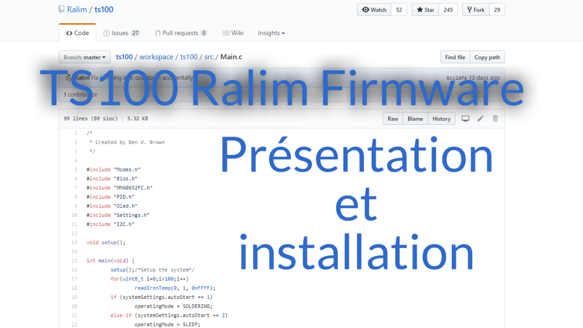 Ralim, un firmware alternatif pour le TS100 - Test et