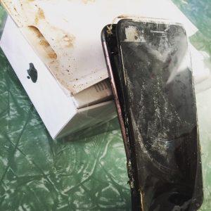 iphone 7 explosión