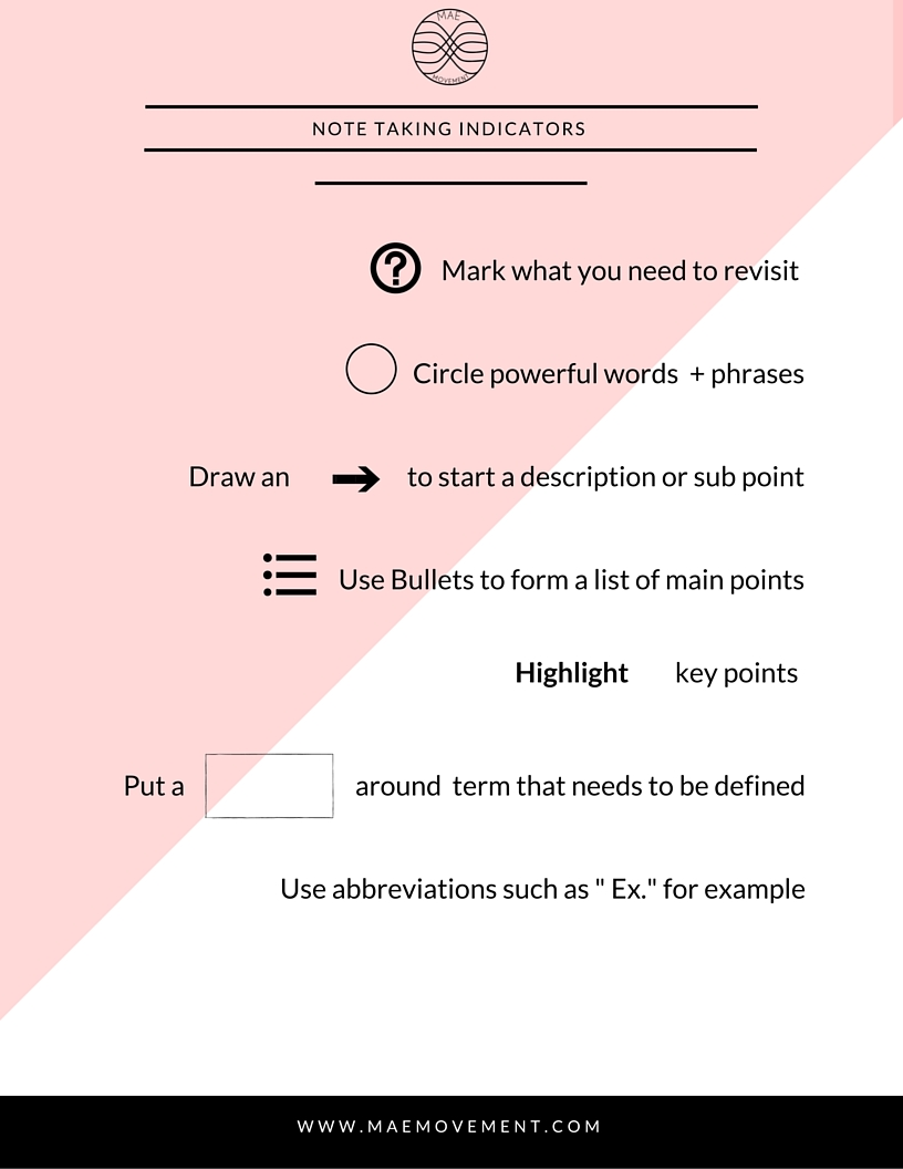 the best note taking tips free printables mae movement
