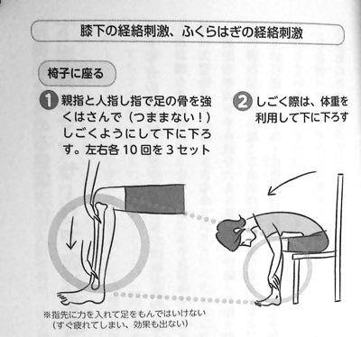 膝下経絡刺激