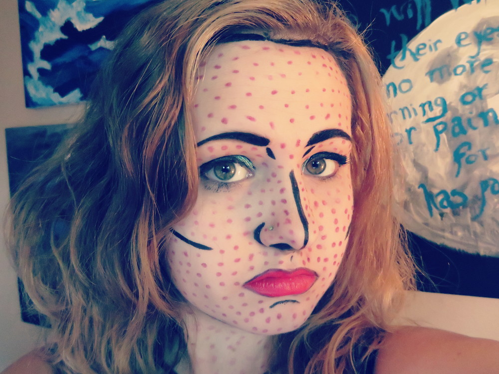 Halloween Pop Art Makeup 1