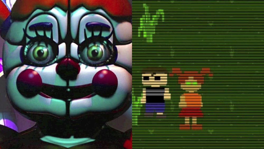 Baby comparison to little girl in FNAF4 Minigame
