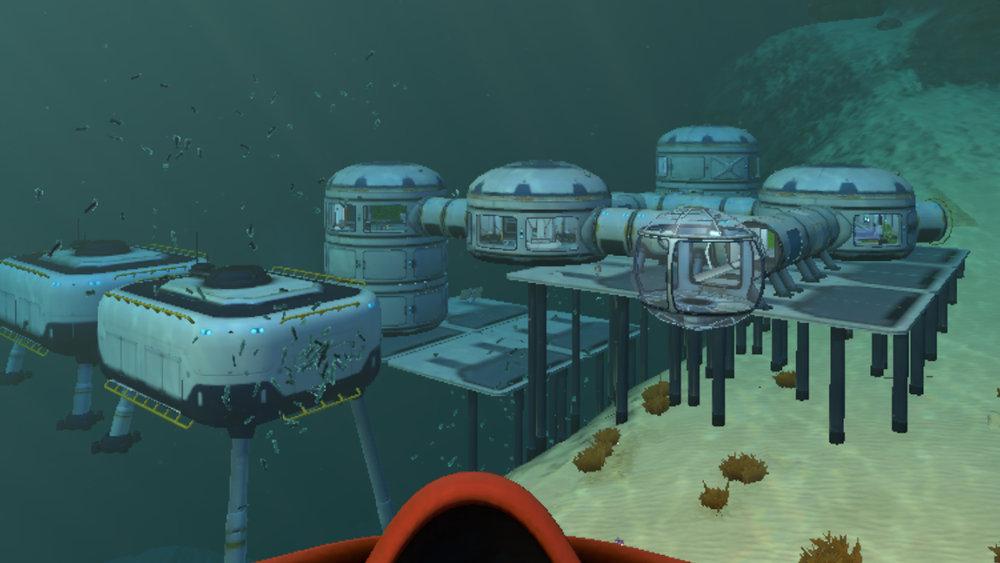 Subnautica: My Base by the Precursor Gun 3