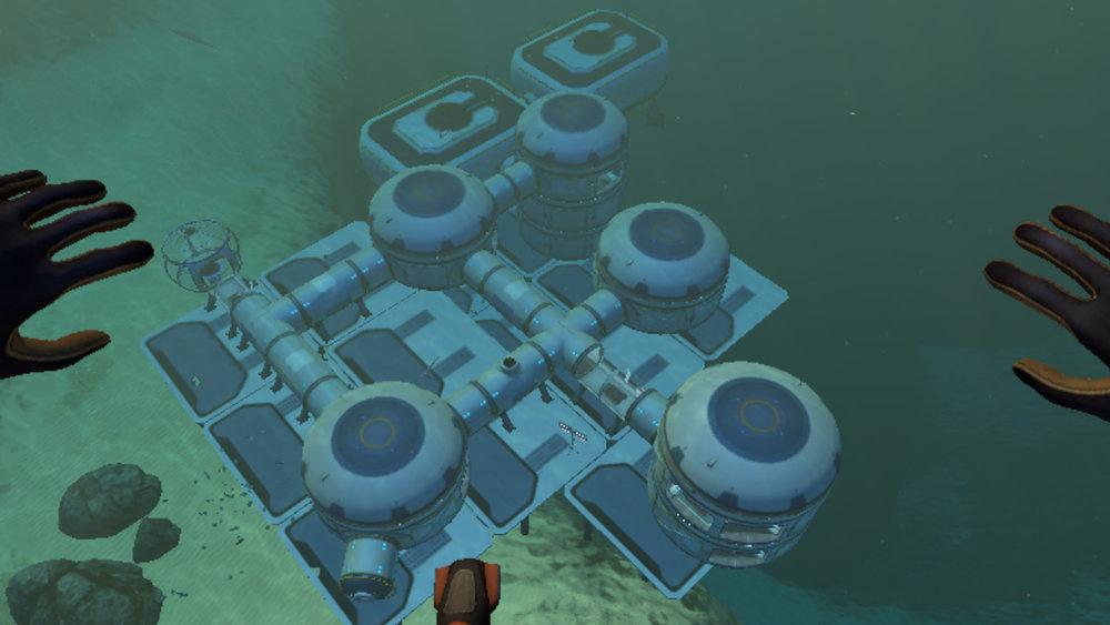 Subnautica: My Base by the Precursor Gun 4