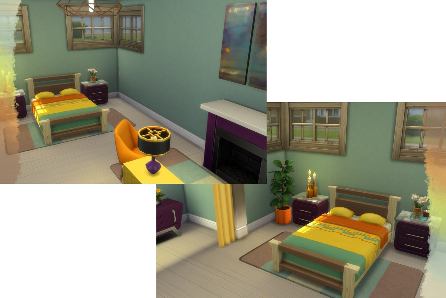Sims 4 Color Palette Build Challenge