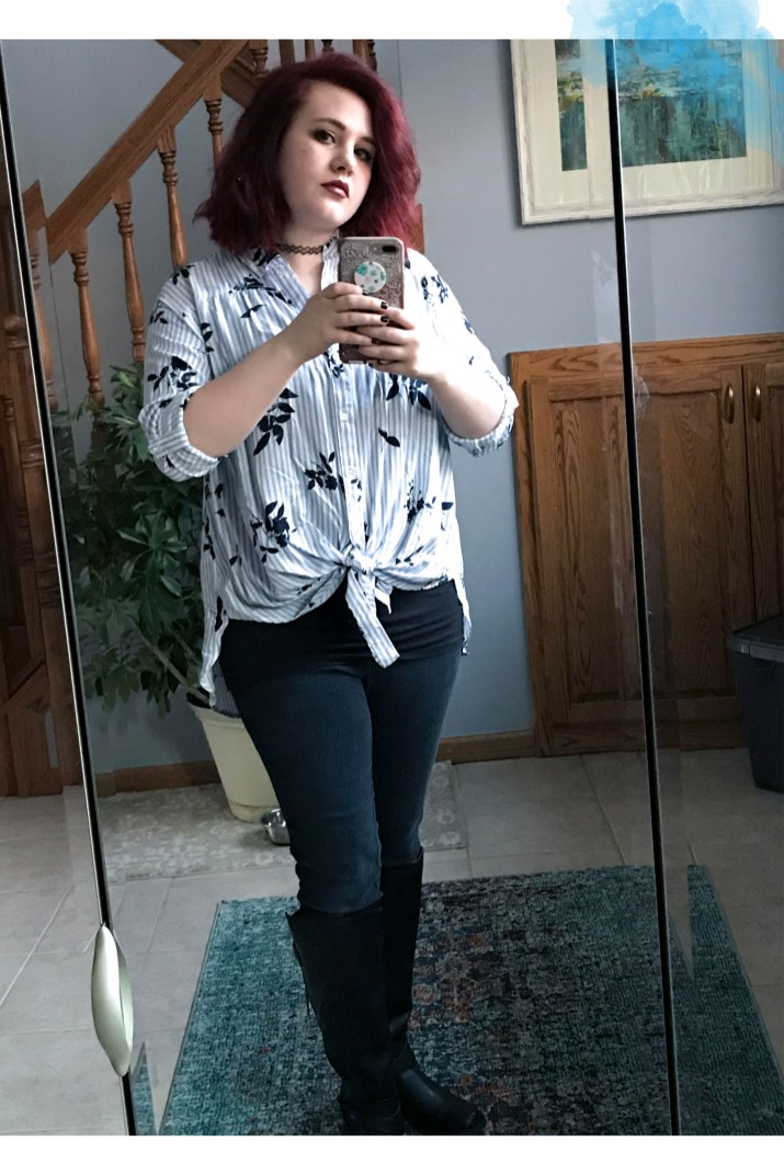Stripes and Floral OOTD 2