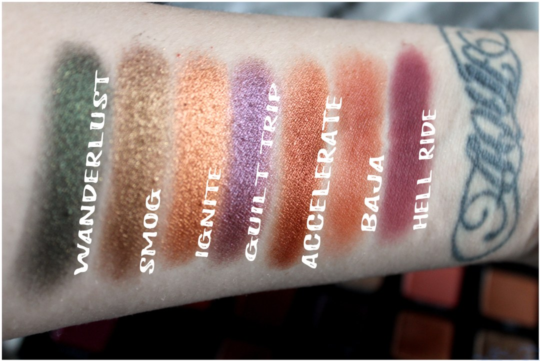 UD Born to Run Row 2 Swatches