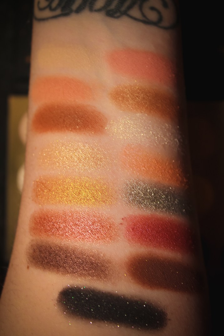Colourpop x Disney Designer Collection Palette Swatches 1