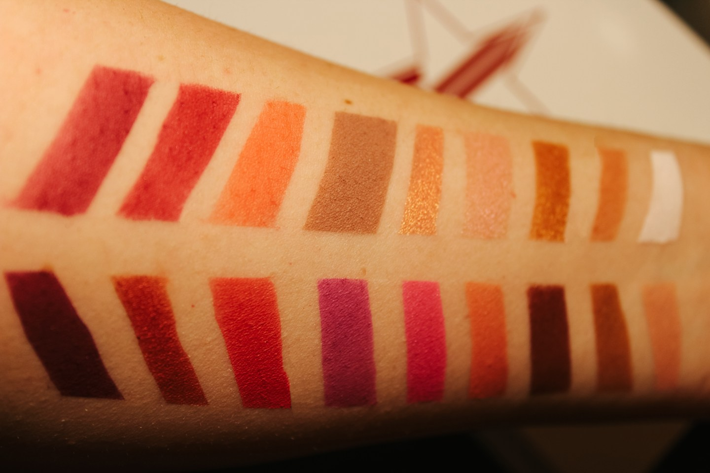 Jeffree Star Blood Sugar Swatch