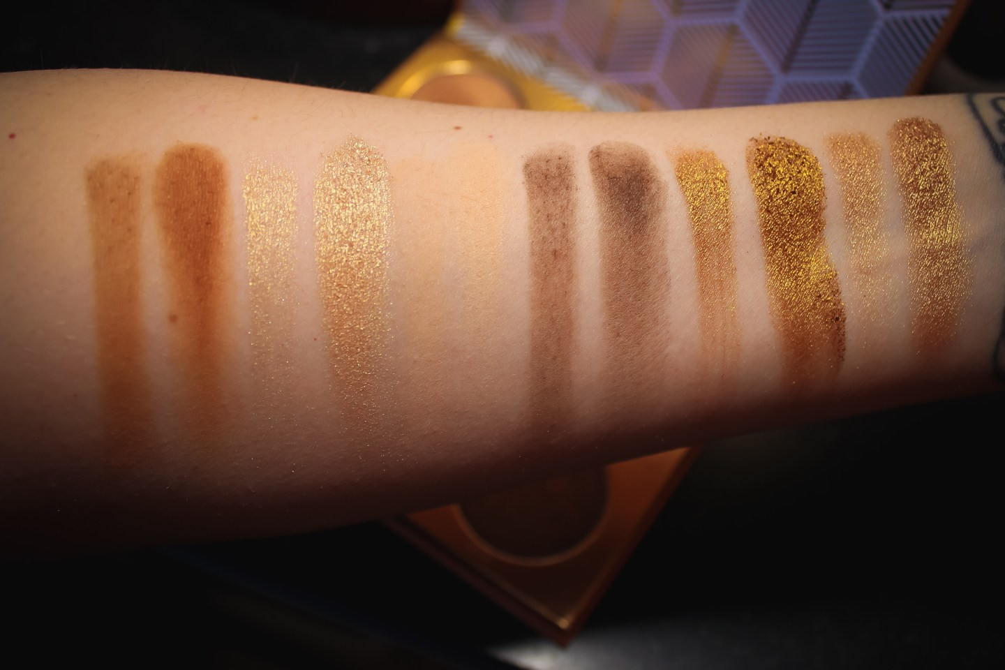 Juvia Place The Warrior Palette Swatch Part 1
