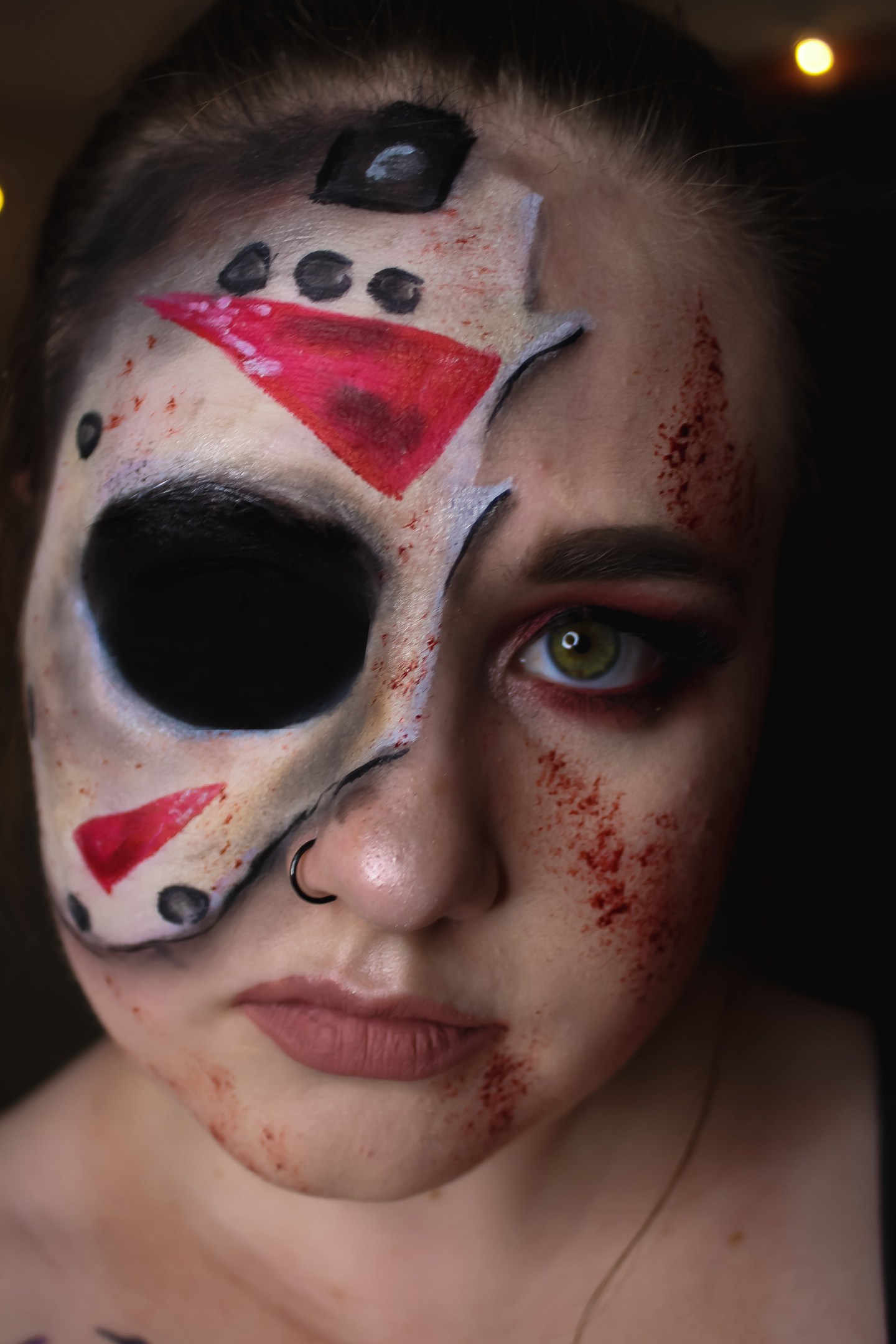 You're Doomed! Jason Voorhees from Friday the 13th Makeup Look 2
