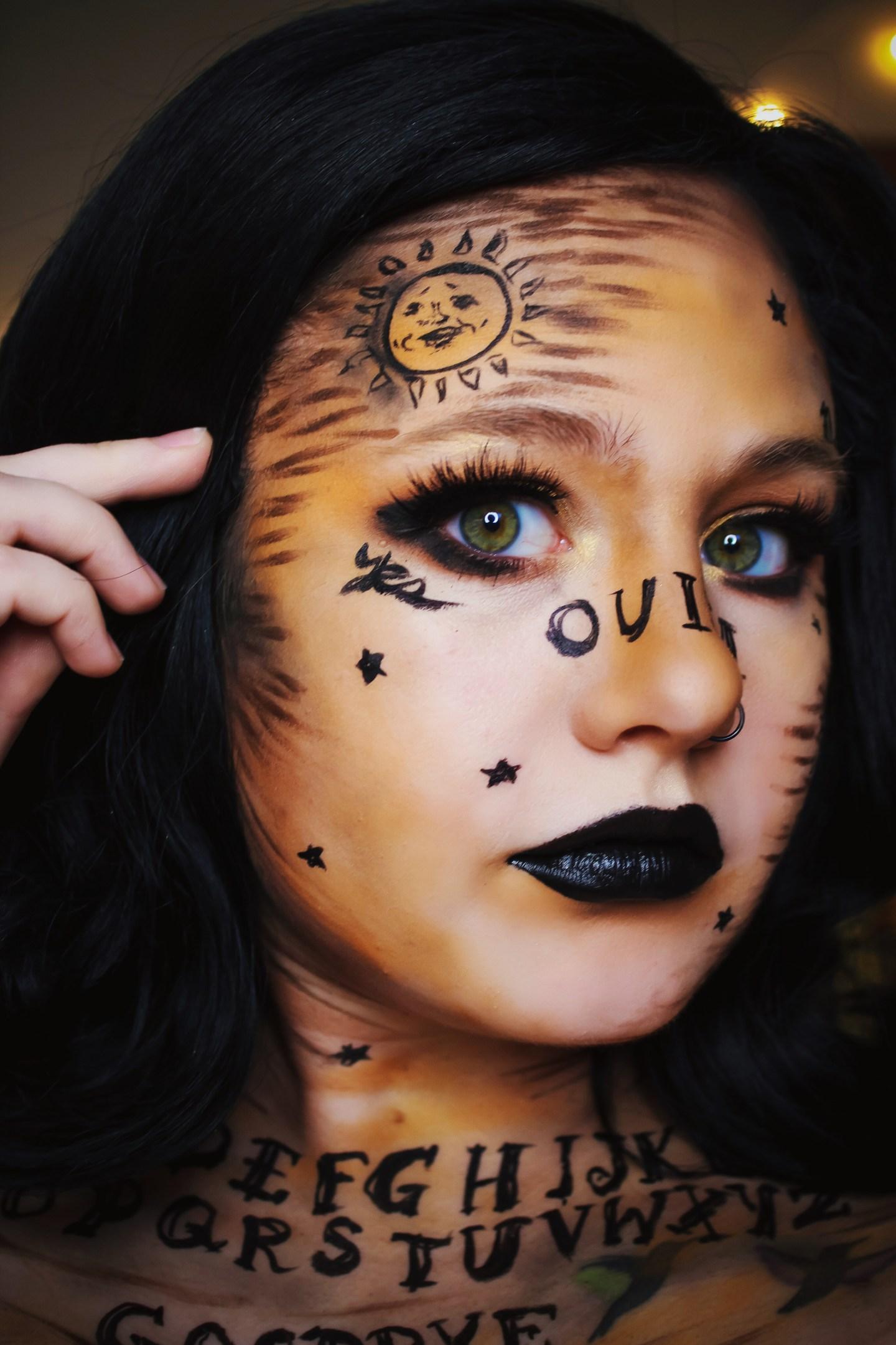 Ouija Board Inspired Makeup for Halloween 4