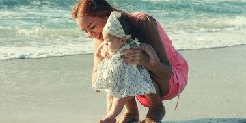Na praia com o baby