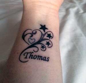 Tatuagem Com Nome De Filho Ideias Lindas Para Inspirar