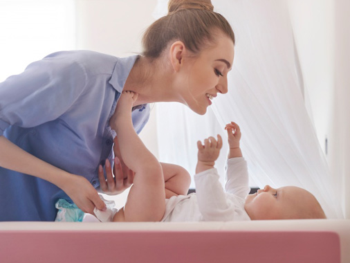 quantidade de fraldas que o bebê usa