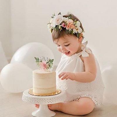 smash the cake menina elegante