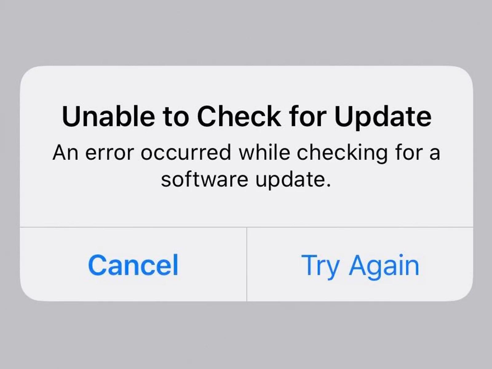 Error de actualizaci贸n de iPad