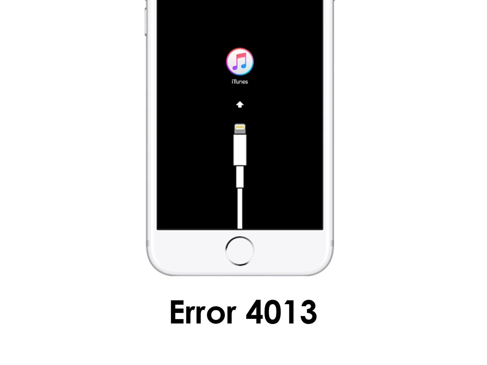 Solución para error 4013 en iPhone